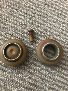 1940 1941 Lincoln Zephyr Door Handle Push Button Bezels