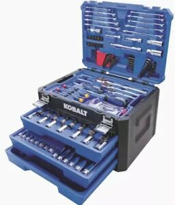 Kobalt 227 Piece Sae Metric Mechanic S Tool Set Hard Case Socket Storage New