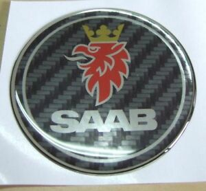 1 9 Saab Carbon Fiber Emblem Badge Decal 9 3 93 9 7x 900 9000 Sonnet 96