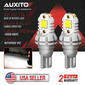 Auxito 921 Led Back Up Reverse Light Bulb 912 W16w 904 906 916 Pure White 6500k