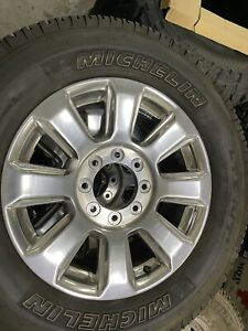 2020 Ford Superduty Oem 20 Wheels And Michelin Tires