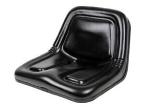 Deluxe High back Steel Pan Seat 19 75 Wide X 14 13 Tall X 19 25 Depth Black
