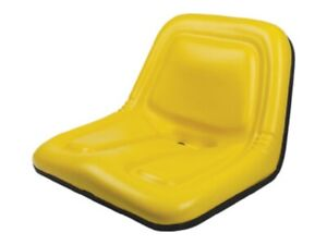 Deluxe High back Steel Pan Seat 19 75 Wide X 14 13 Tall X 19 25 Depth Yellow