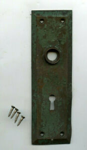 Vintage Chippy Green Door Back Plate Skeleton Keyhole From 1890 S House
