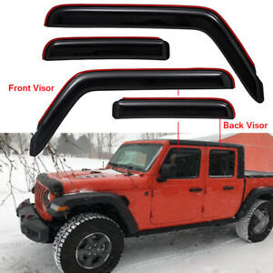In Channel Window Visor For 2018 2021 Jeep Wrangler Jl Unlimited 20 21 Gladiator