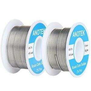 60 40 Rosin Core Solder Wire 0 6mm 1 5mm Tin Lead For Stained Glass Electronic
