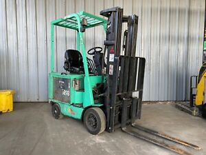 Mitsubishi 3 500 Lbs Capacity 4 wheel Electric Forklift