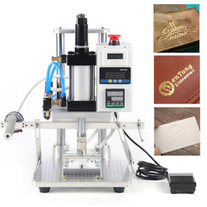 80 100mm Pneumatic Hot Foil Stamping Machine Logo Leather Wood Stamper 500w