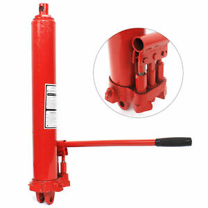 New 8 Ton Jack Hydraulic Long Ram Lift For Engine Cranes Replacement Heavy Duty