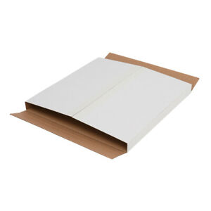 100pcs Album Paper Boxes Mailers Cardboard Book Shipping Box White Waterproof