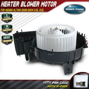 Manual A c Heater Blower Motor For Nissan Altima 2002 2003 2004 Front 272008j010