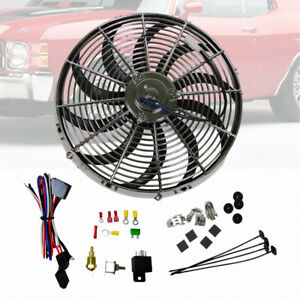 16 Chrome S Blade Hd Electric Radiator Cooling Fan W Thermostat Relay Kit