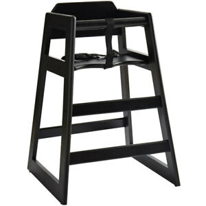 Lancaster Table Seating Ready_to_assemble Stacking Restaurant Wood High Chair