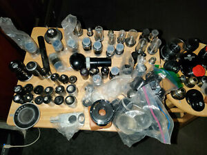 Microscope Lens Eyepiece Condenser And Accessorie Lot