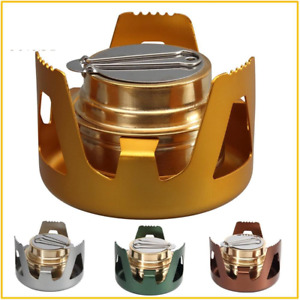 Heavy Duty Brass Alcoho Stove Burner With Aluminum Alloy Stand Lid For Outdoor