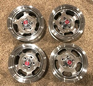 Nos 1971 1972 1973 Ford Mustang Optional Slotted Aluminum Wheels Center Caps