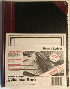 Boorum Pease Columnar Book 21 150 r Record Ruling 150 Pages New