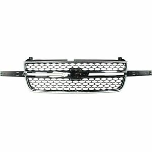 New Chrome Grille For 2003 2006 Chevrolet Silverado Gm1200589 Ships Today