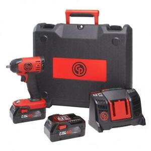 Chicago Pneumatic Cp8828k 3 8 Cordless Impact Wrench Kit Incl 2 Li ion Battery