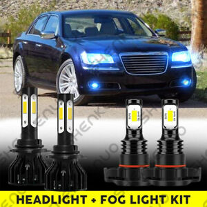 For Chrysler 300 2011 2013 2014 8000k 9012 Led Headlight 5202 2504 Fog Bulbs