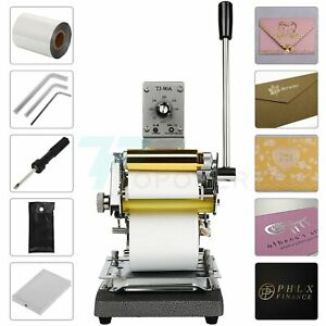 110v Hot Foil Stamping Machine For Leather Soft Pvc 300w