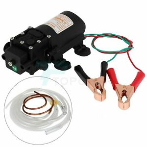 12v 60w Cmotor Oil Change Pump Fuel Fluid Extractor Diesel Transfer Electric