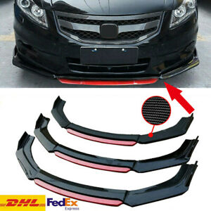 Carbon Fiber Front Bumper Lip Splitter For 9th Honda Civic Sedan 2013 2015 2014