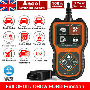 Vw Golf Obd2 Car Fault Code Reader Diagnostic Scanner Tool Ancel As200