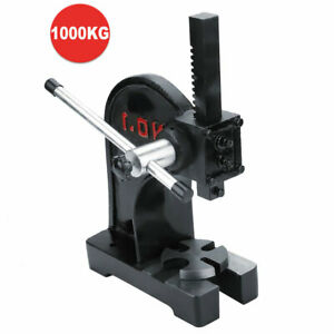 1 Ton Carbon Steel Small Hand Punch Press Machine Metal Arbor Pressing Tool Usa