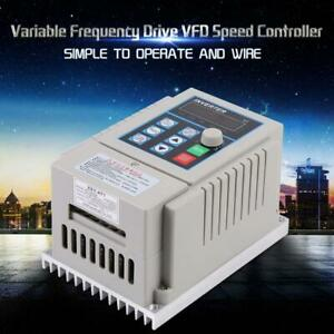 0 75kw 1hp Vfd Ac 220v 5a Single Phase Speed Variable Frequency Drive Inverter
