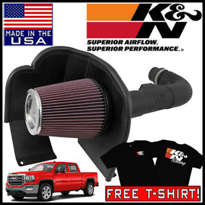 K n Aircharger Cold Air Intake System Fipk 2014 2018 Gmc Sierra 1500 4 3l V6