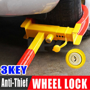 2020 Anti Theft Wheel Lock Clamp Boot Tire Claw Trailer Auto Car Truck Towing