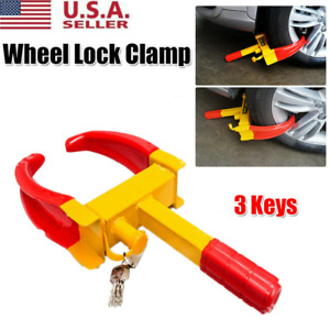 Wheel Lock Clamp Boot Tire Claw Trailer Auto Car Truck Anti Theft Towing Usa Hot