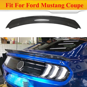Fit For Ford Mustang Coupe 2015 2020 Rear Trunk Spoiler Tail Wing Carbon Fiber