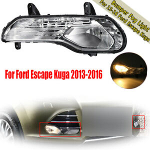 For Ford Escape 2013 16 Right Rh Clear Lens Bumper Fog Light Lamp Replacement