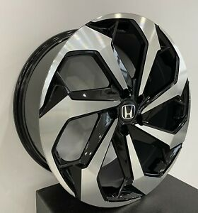4 654 20 Inch Black Machined Rims Fits Et45 Honda Accord Coupe V6 2008 2020