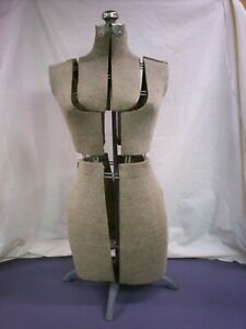 Vintage Fully Adjustable Dress Form Mannequin With Adjustable Metal Stand