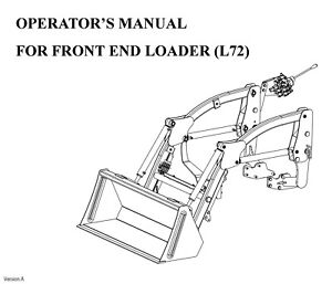 Rk Tractor L72 Front Loader Operator Maintenance Instruction For Rk19h Tractors