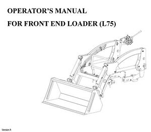 Rk Tractor L75 Front Loader Operator Maintenance Instruction For Rk24h Tractors
