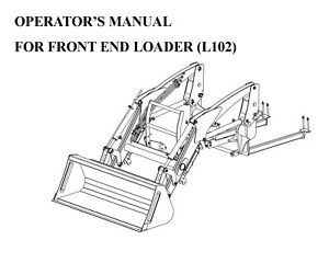 Rk Tractor L102 Front Loader Operator Maintenance Manual For Rk37 Tractors