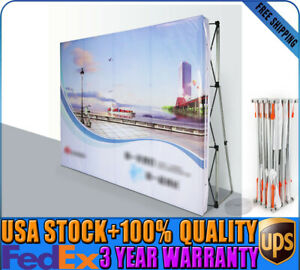 8 8ft Trade Show Booth Pop Up Stand Display Wall Frame Aluminum carry Case Up