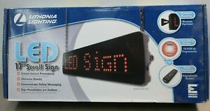 Lithonia Lighting Sgnscrm4 Led Program Scrolling Message Display Screen Sign C35