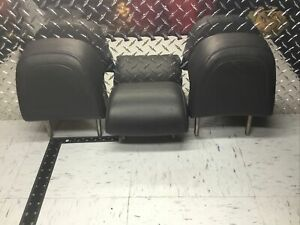 2005 2010 Mk5 Vw Jetta Sedan Rear Set Black Leather Gli Headrests 896