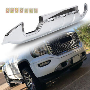 Fits 2016 2018 Gmc Sierra 1500 Front Bumper Skid Plate Protective Armor Chrome