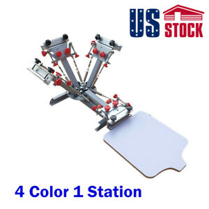 Usa 4 Color 1 Station Screen Printing Press Machine T shirt Printer