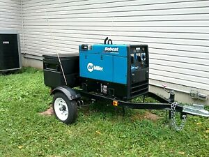 Miller Bobcat 250 Engine Drive Welder Generator Trailer Custom Bundle nice