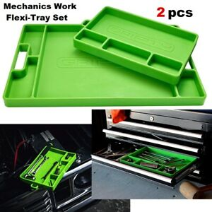 Tool Tray Set Silicone Mechanics Work Organizer Flexi Tray Mat Heat Resistant