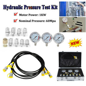 Portable Hydraulic Pressure Test Kit Hydraulic Equipment Tester With 3 Gauge