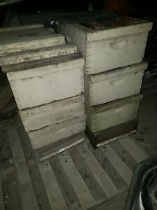2 Complete Langstroth Bee Hive 6 box 57 frame 2 top bottom Smoker Queen Excluder