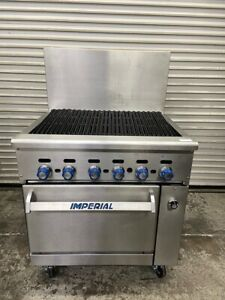 36 Radiant Char Broiler Grill Commercial Nat Gas Range Imperial Ir 36br 5047